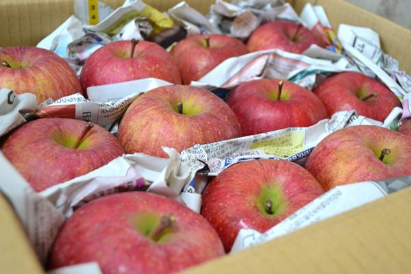りんごのお届けの形